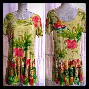 Jams World Hawaiian Lagoon Hattie Dress Floral